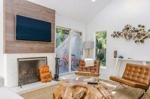 Eclectic living room in the Hamptons